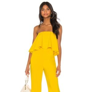Lovers + friends Nikki jumpsuit yellow M